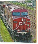 Cp Rail Engine Wood Print
