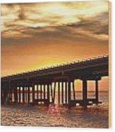 Crab Island Bridge Wood Print