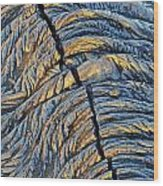 Crack In Pahoehoe Lava Wood Print