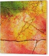 Cracked Kaleidoscope Wood Print