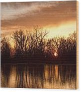 Crane Hollow Sunrise Before The Storm Wood Print
