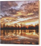 Crane Hollow Sunrise Boulder County Colorado Hdr Wood Print
