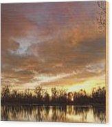 Crane Hollow Sunrise Wood Print