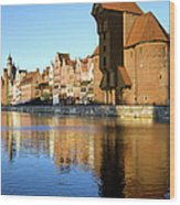 Crane In The Old Town Of Gdansk Wood Print
