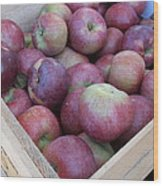 Crate Of Apples Wood Print by Kimberly Perry