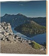 Crater Lake Afternoon Wood Print