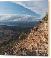 Crater Lake Mountains Wood Print