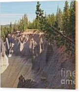 Crater Lake Pinnacles Wood Print