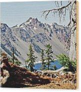 Crater Lake Through Nature Wood Print