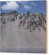 Crater Lake Volcanic Wall, Usa Wood Print by Dr Juerg Alean