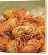 Crawdad Delight Wood Print