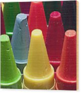 Crayon Tips 3 Wood Print
