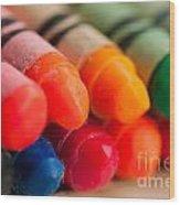 Crayons 2 Wood Print