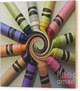 Crayons Wood Print