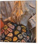 Crazee Corn Colors Wood Print