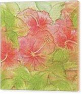 Creamsicle Hibiscus Wood Print