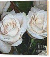 Creamy Roses I Wood Print