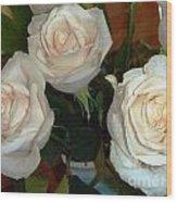 Creamy Roses II Wood Print