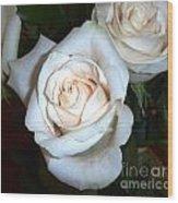 Creamy Roses IIi Wood Print