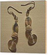 Create In Silver Earrings Wood Print by Jenna Green