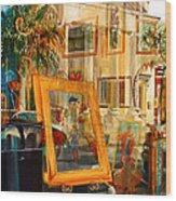 Creations Paintings Pillars and Palmettos Wood Print