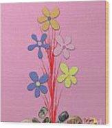 Creative Flower Wood Print