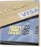 Credit Cards Wood Print