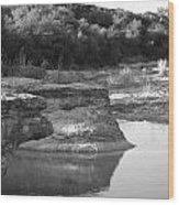 Creek In Texas Wood Print