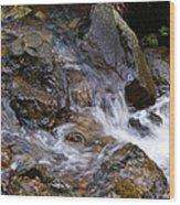 Creek Scene On Mt Tamalpais Wood Print
