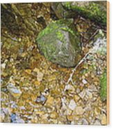 Creek Stones Wood Print
