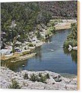 Creek Water Wood Print