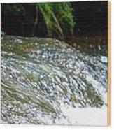 Creek Water Splash Wood Print