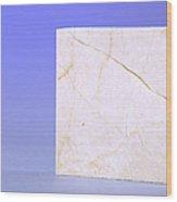 Crema Marfil Marble Wood Print