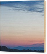 Crescent Moon Twilight Wood Print