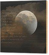 Cresent Moon  Wood Print by Joseph G Holland