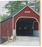 Cresson Covered Bridge Wood Print