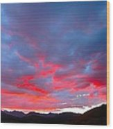 Crested Butte Alpenglow Wood Print