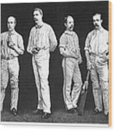 Cricket Players, 1889 Wood Print