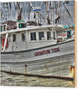 Crimson Tide Wood Print by Lynn Jordan