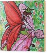Crimson Wings Wood Print