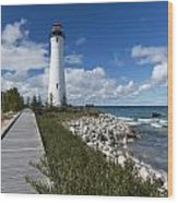 Crisp Point Lighthouse 10 Wood Print