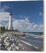 Crisp Point Lighthouse 11 Wood Print