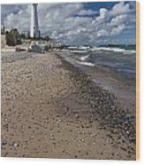 Crisp Point Lighthouse 14 Wood Print