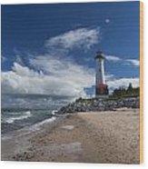 Crisp Point Lighthouse 6 Wood Print