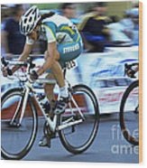 Criterium Bicycle Race 3 Wood Print
