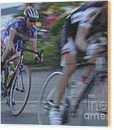 Criterium Bicycle Race 4 Wood Print