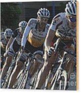 Criterium Bicycle Race 5 Wood Print