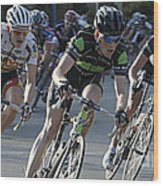 Criterium Bicycle Race 6 Wood Print
