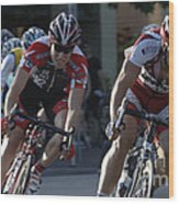 Criterium Bicycle Race 7 Wood Print