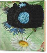 Crochet Camera Color Wood Print